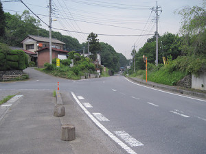 越生町大谷の六地蔵峠